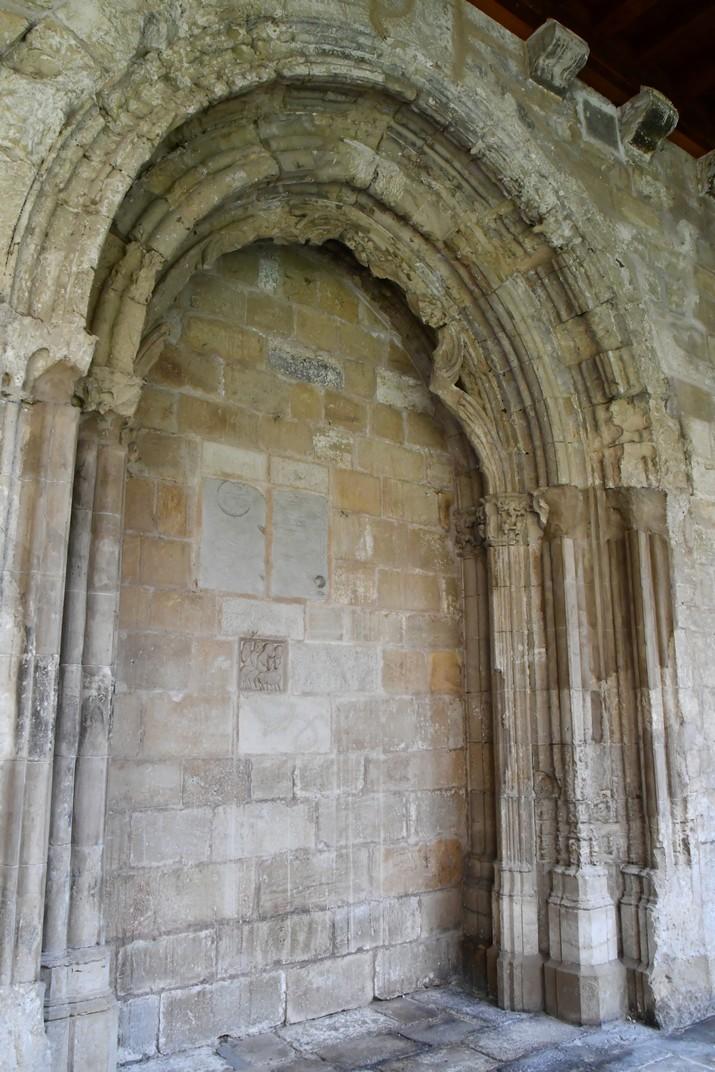 Pòrtic tapiat del claustre de la Catedral de Santa Maria de Tortosa