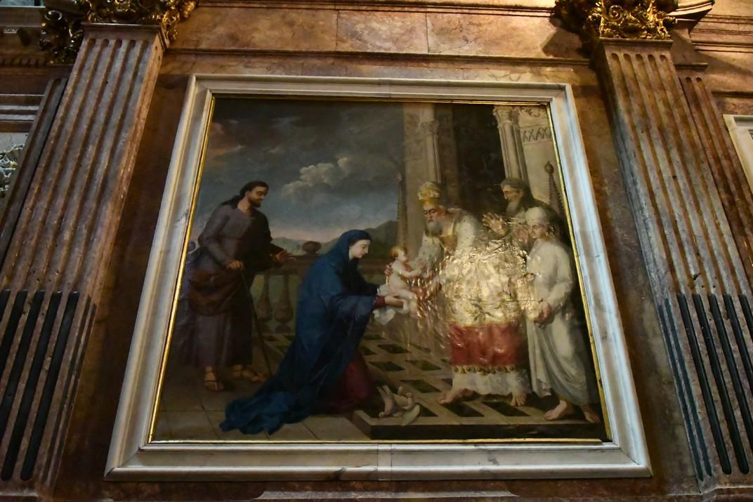 Presentació de Jesús al Temple de la capella de la Mare de Déu de la Cinta de la Catedral de Santa Maria de Tortosa