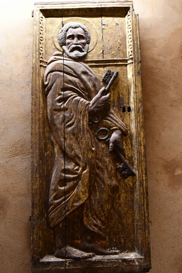 Relleu de l'exposició permanent de la Catedral de Santa Maria de Tortosa