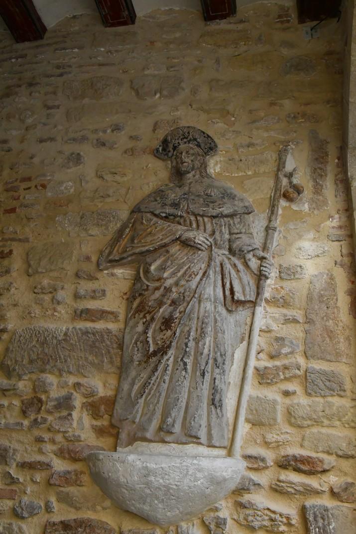 Relleu de sant Jaume del portal del Romeu de Tortosa