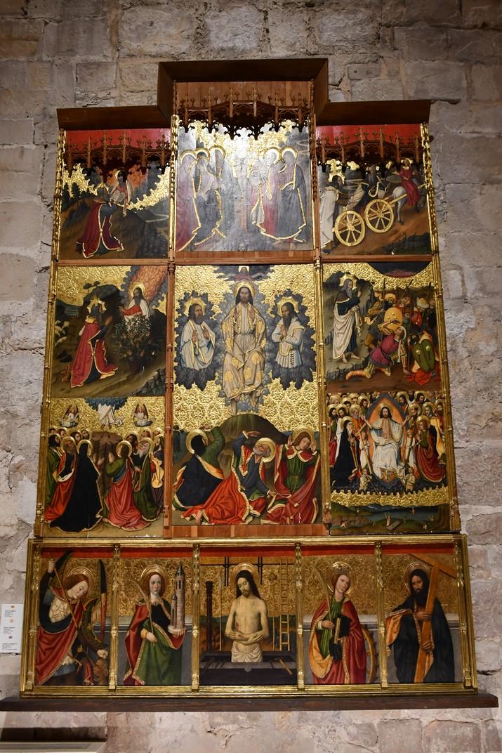 Retaule de La Transfiguració de l'exposició permanent de la Catedral de Santa Maria de Tortosa