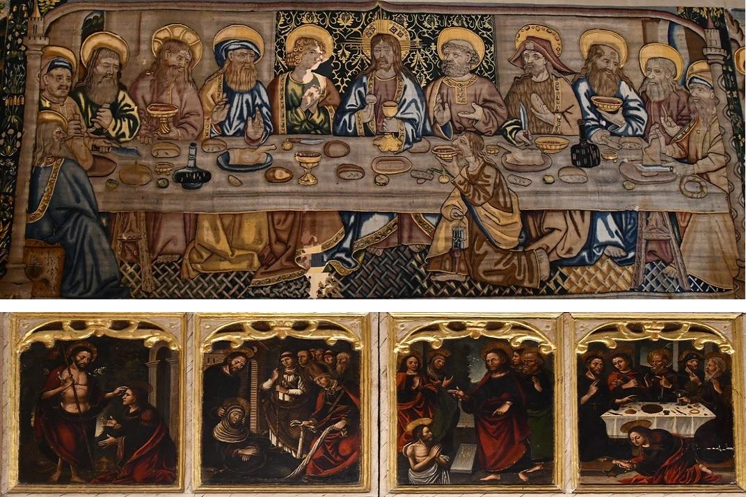 Tapís del Sant Sopar - Predel·la de l'exposició permanent de la de Santa Maria de Tortosa