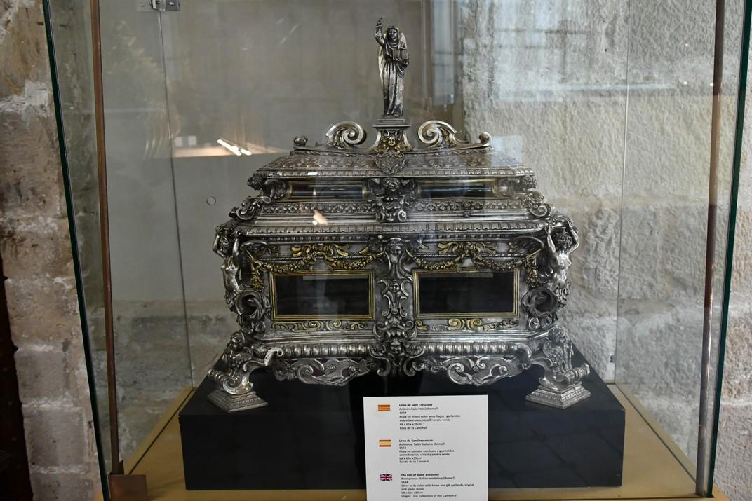 Urna de sant Crescenci de l'exposició permanent de la Catedral de Santa Maria de Tortosa