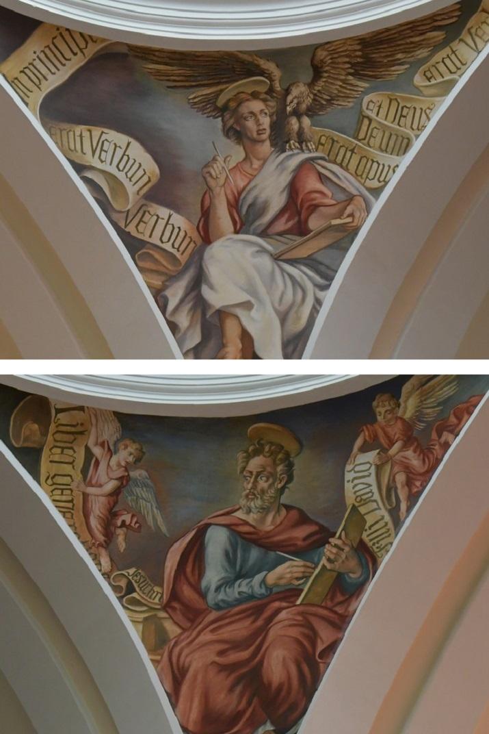 Evangelistes de l'església de Sant Antolí Màrtir d'Aitona
