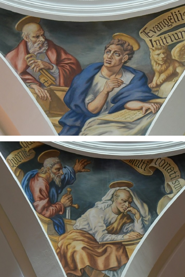 Sants Pere i Pau i evangelistes de l'església de Sant Antolí Màrtir d'Aitona