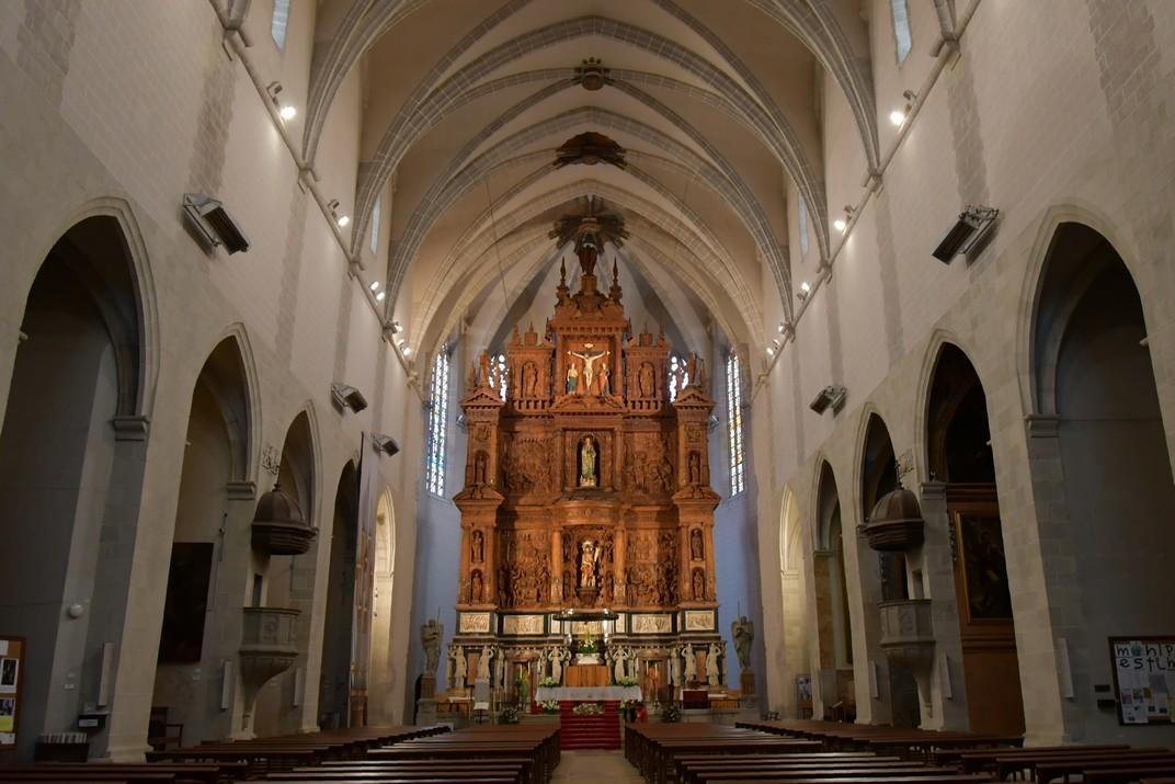 Interior de l'església de Sant Joan Baptista de Valls