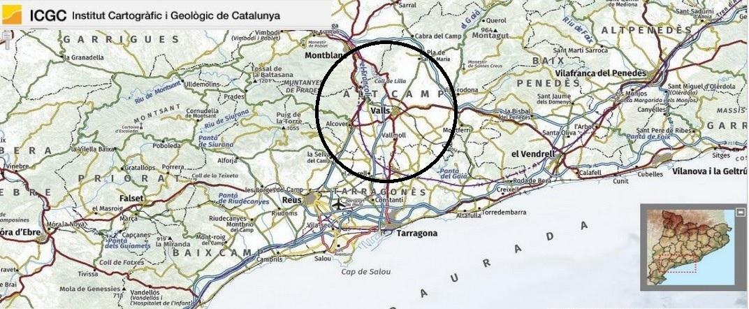 Mapa de localització de Valls