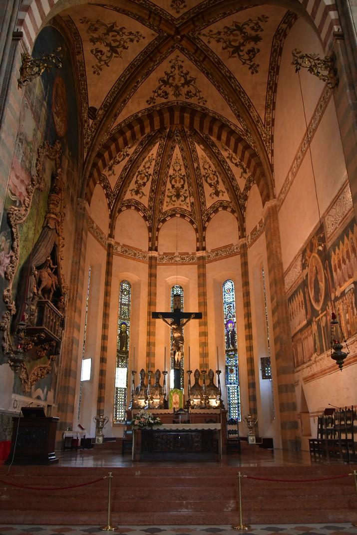 Absis central de la Basílica de Santa Anastàsia de Verona
