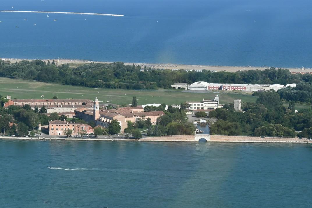 Aeroport i monestir de Sant Nicolau del Lido de Venècia