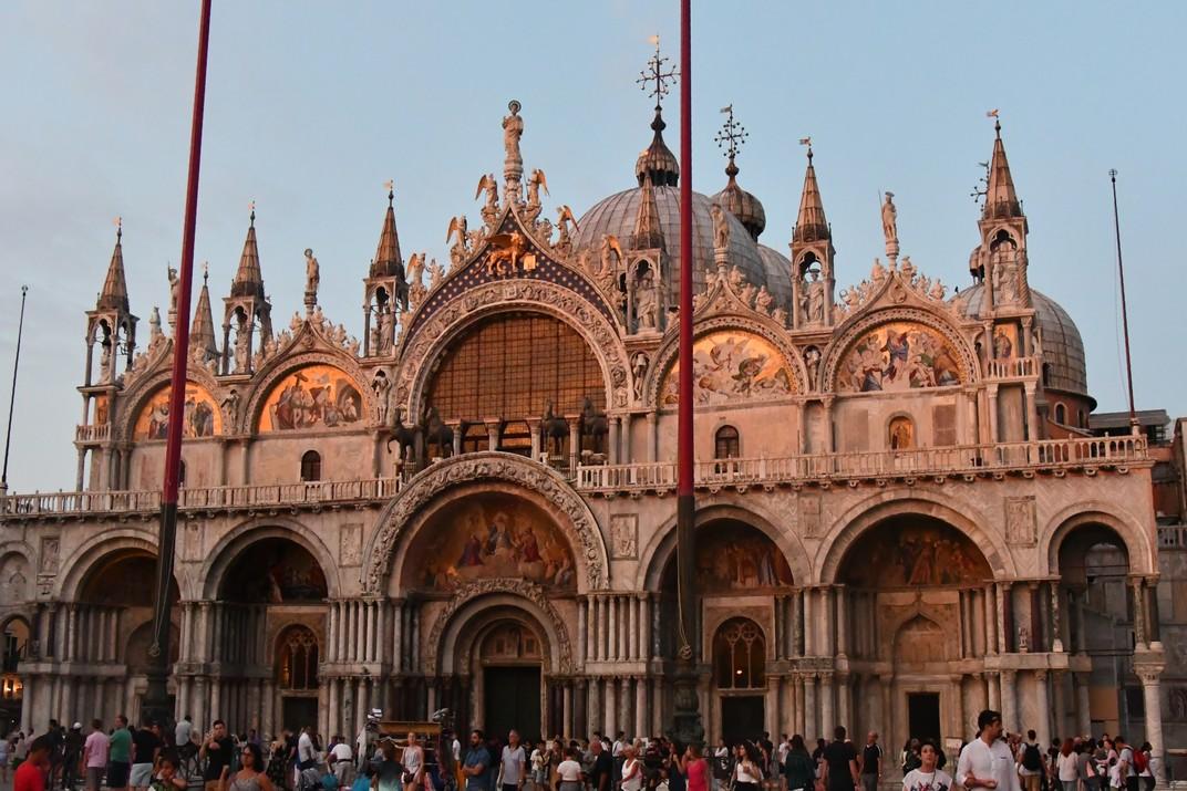 Al vespre basílica de Sant Marc de Venècia