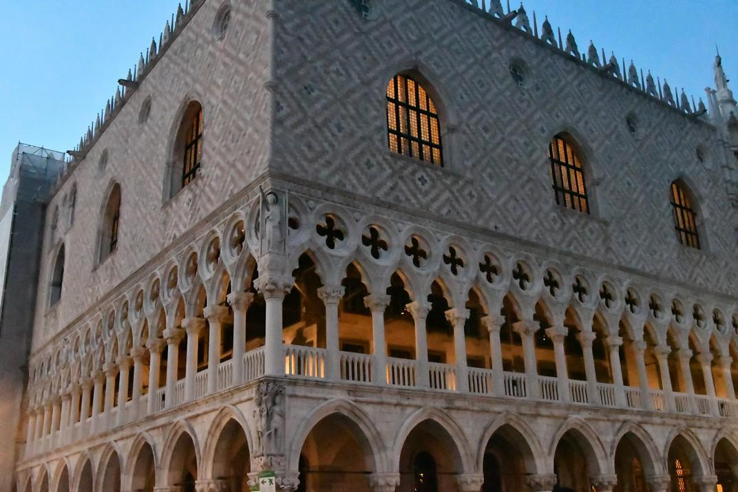 Al vespre palau Ducal de Venècia