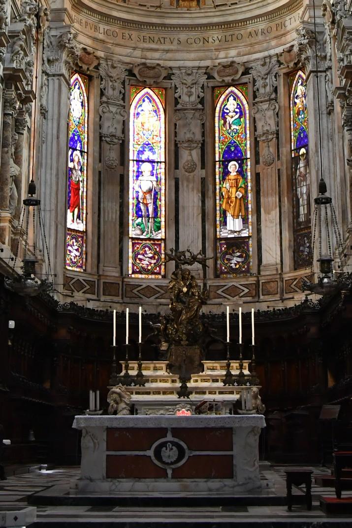 Altar major de la Catedral de Sant Llorenç de Gènova