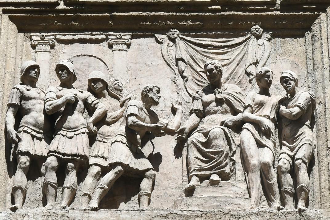 Baix relleu del palau Valmarana Braga Rosa de Vicenza