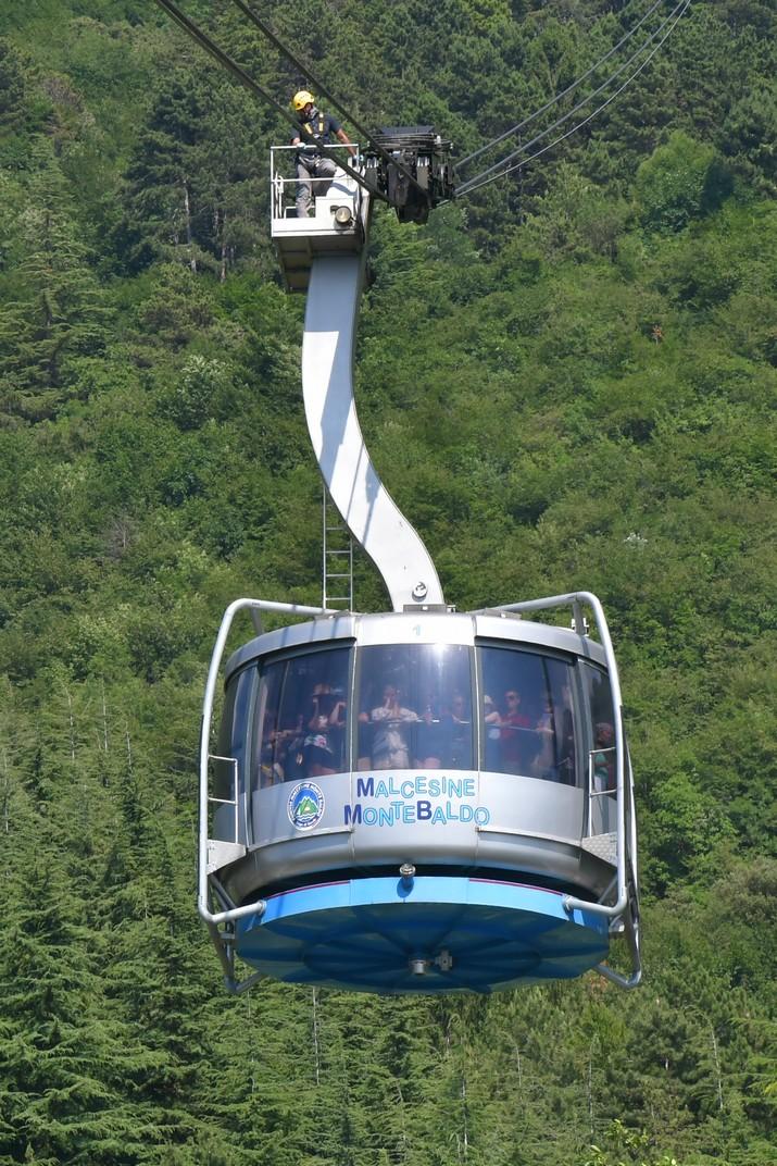 Cabina del telefèric de Malcesine al Mont Baldo de Garda