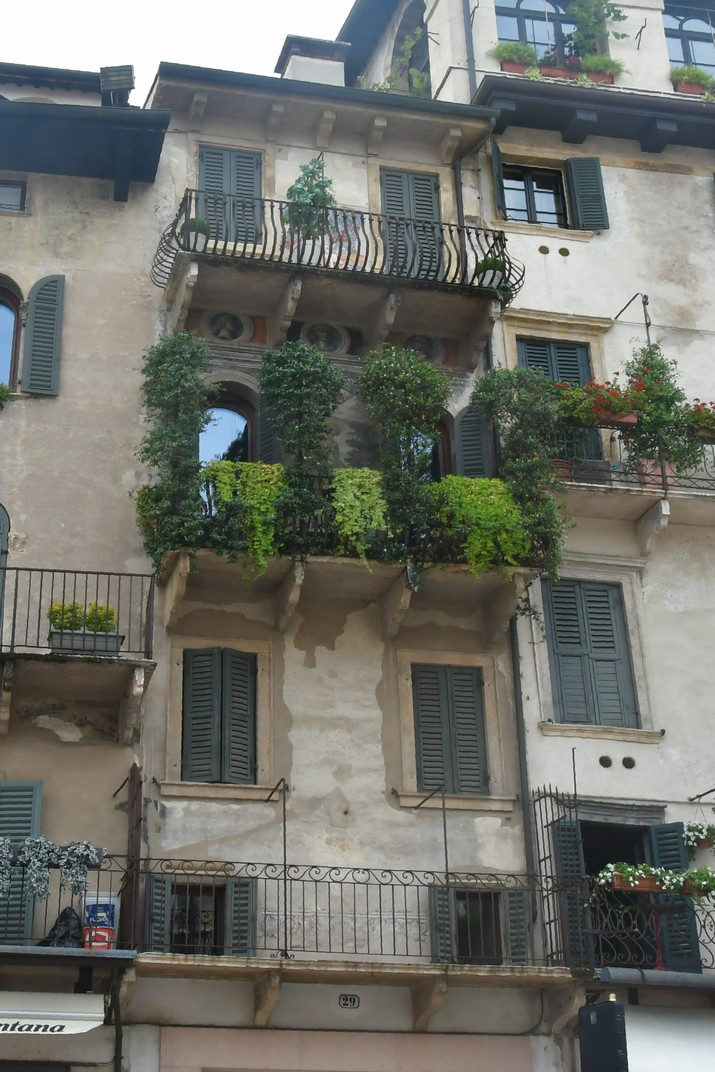 Cases de la plaça Erbe de Verona