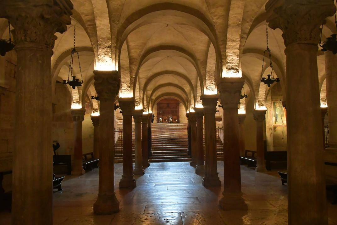 Columnes de la cripta de la Basílica de Sant Zenó de Verona