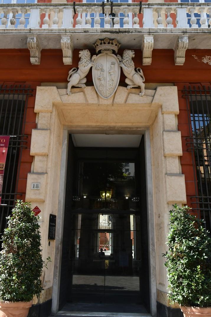 Entrada Palau Ridolfo Maria i Gio Francesco Brignole Sale - Vermell de Gènova