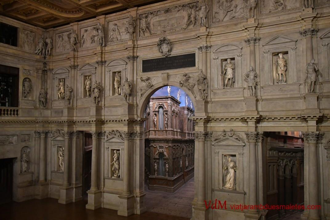 Escenari del Teatre Olímpic de Vicenza