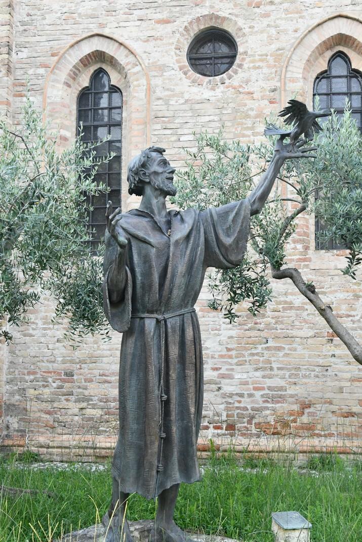 Escultura de sant Francesc de Treviso