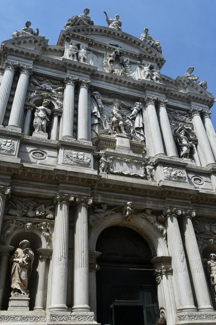 Façana de l'església de Santa Maria del Lliri de Venècia