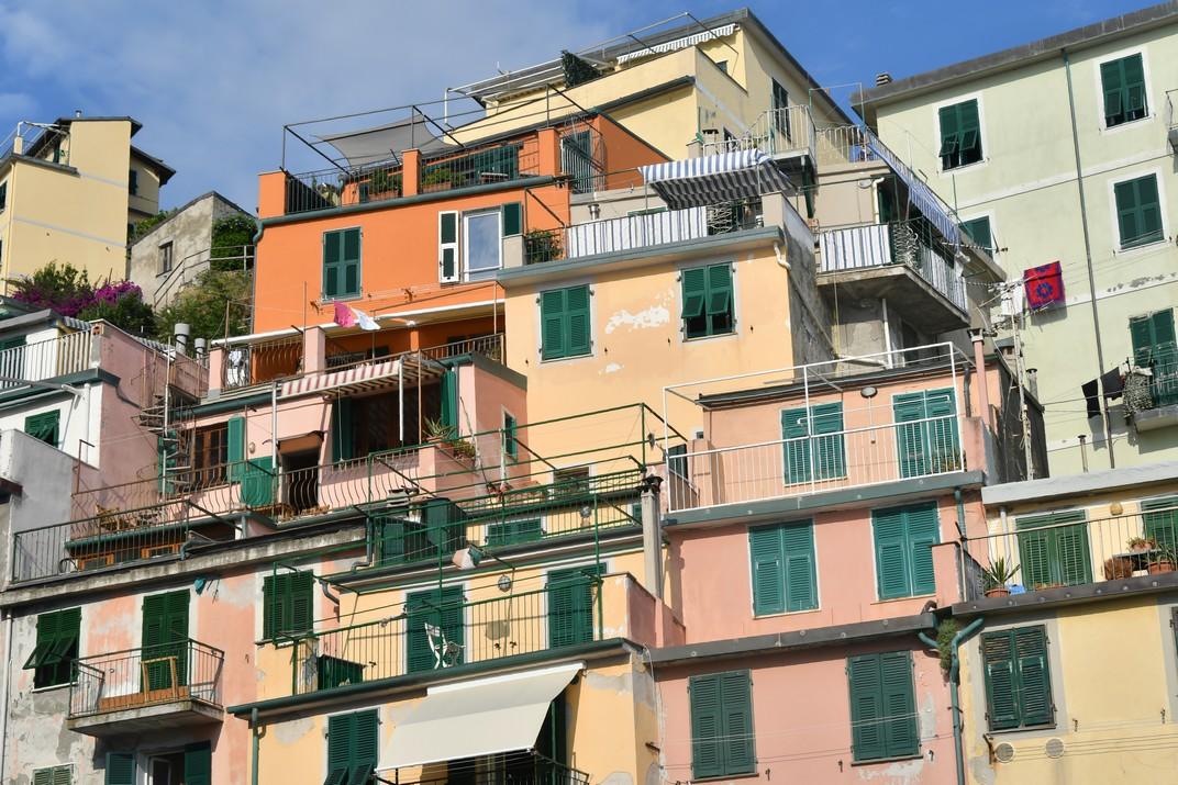 Façanes de colors de Riomaggiore