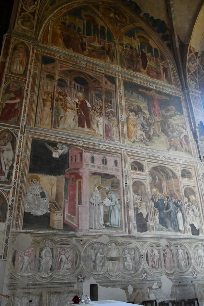 Frescos de la capella major de l'església dels Eremites de Pàdua