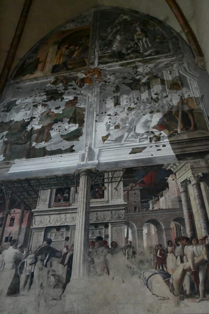 Frescos de la dreta de la capella Ovetari de l'església dels Eremites de Pàdua