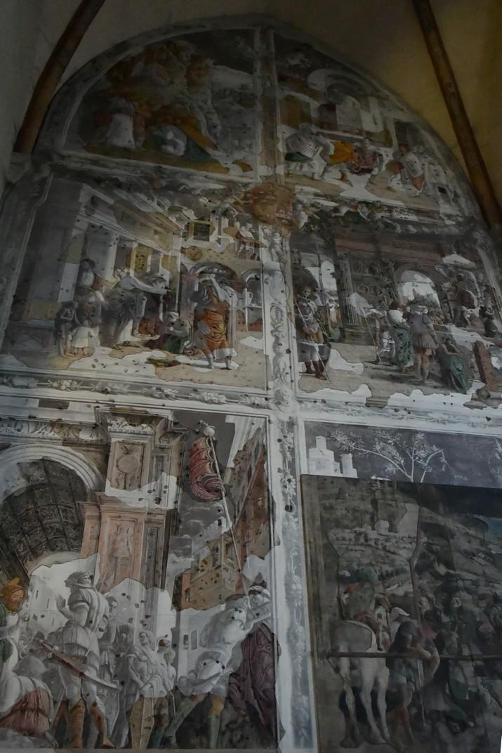 Frescos de l'esquerra de la capella Ovetari de l'església dels Eremites de Pàdua