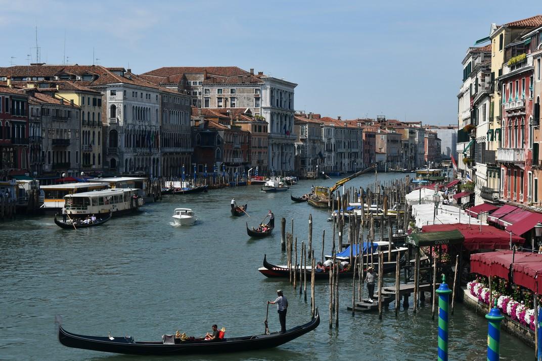 Gran Canal des del pont de Rialto de Venècia