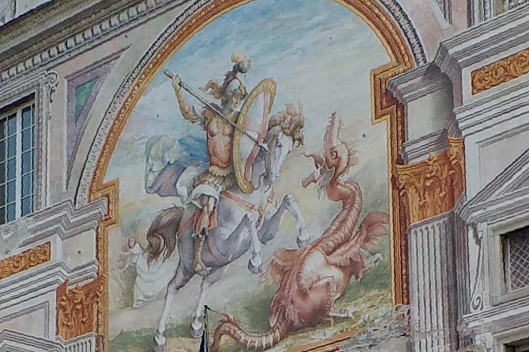 Imatge central del Palau de Sant Jordi de Gènova