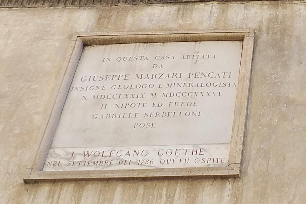 Inscripció Casa Marzari de Vicenza