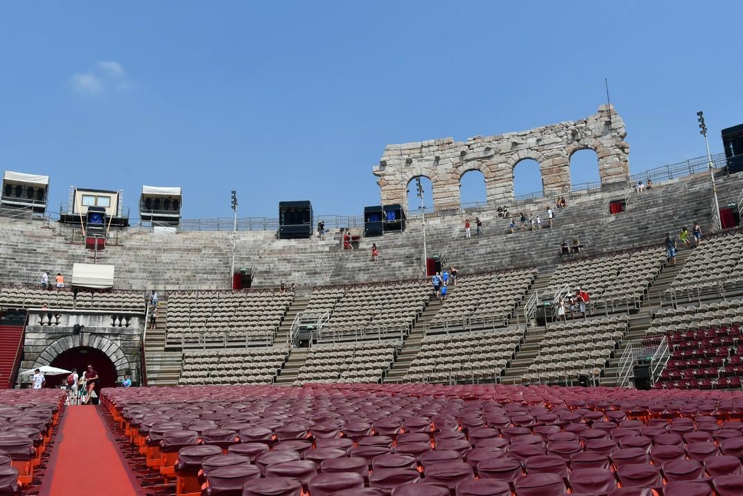 Interior de l'Amfiteatre de Verona