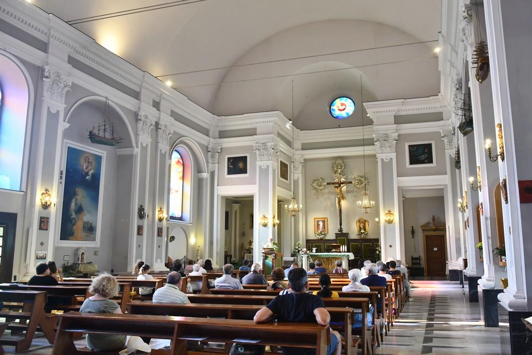 Interior de l'església de Sant Antoni de Boccadasse de Gènova