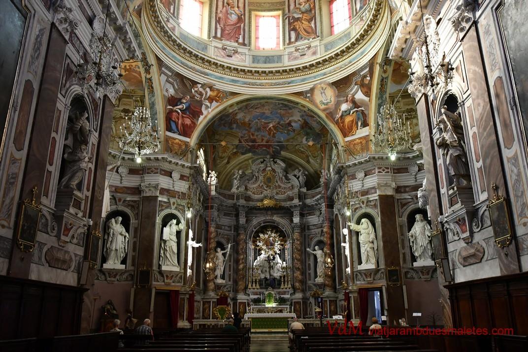Interior del Santuari de Nostra Senyora de la Costa de Sanremo