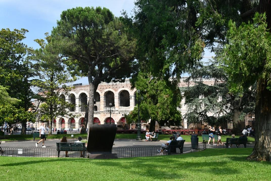 Jardins de la plaça Bra de Verona