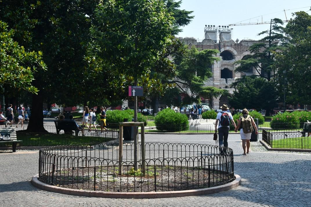 Jardins de la plaça Bra i Amfiteatre de Verona