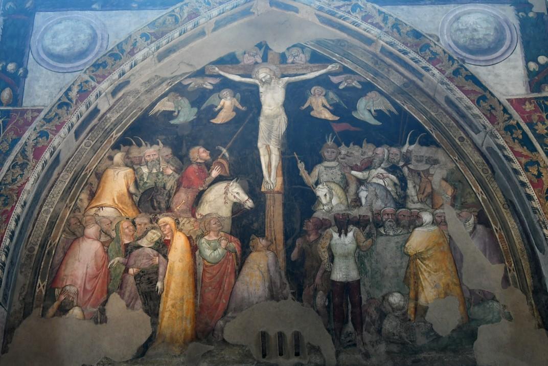 La Crucifixió de l'església superior de Sant Fermo de Verona