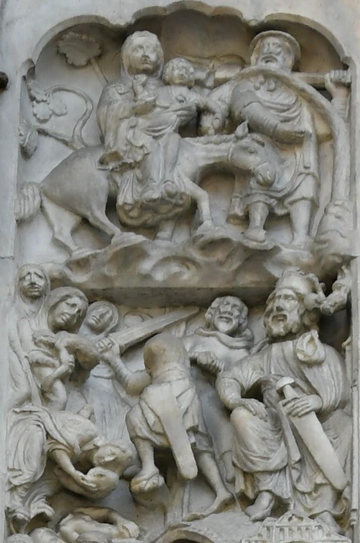 La vida de Jesús del brancal del pòrtic central de la Catedral de Sant Llorenç de Gènova