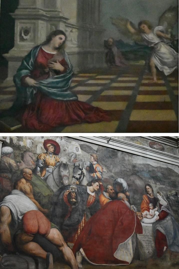 L'Anunciació i L'Adoració dels Reis d'Orient de la capella de l'Anunciació de la Catedral de San Pere Apòstol de Treviso