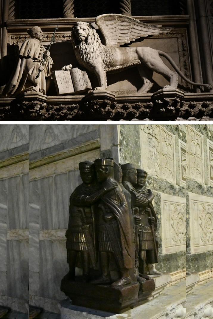 Lleó alat i Tetrarques de la basílica de Sant Marc de Venècia