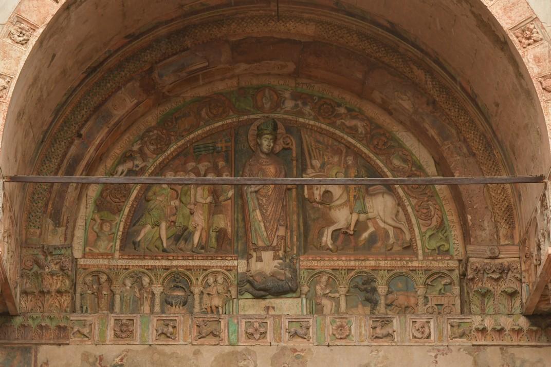 Lluneta del pòrtic de la Basílica de Sant Zenó de Verona
