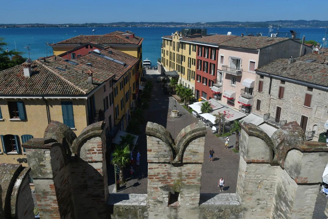 Merlet gibel·lí de la Rocca Scaligera de Sirmione de Garda