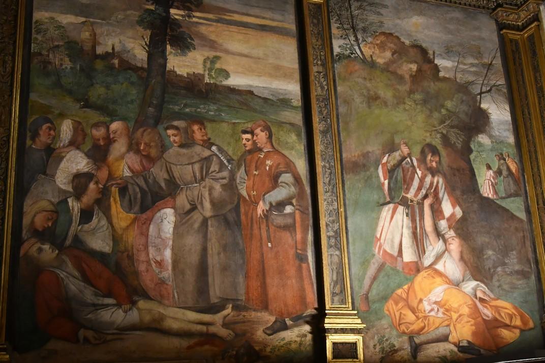 Miracles del peu curat i del marit gelós de Ticià de l'Escola del Sant de Pàdua