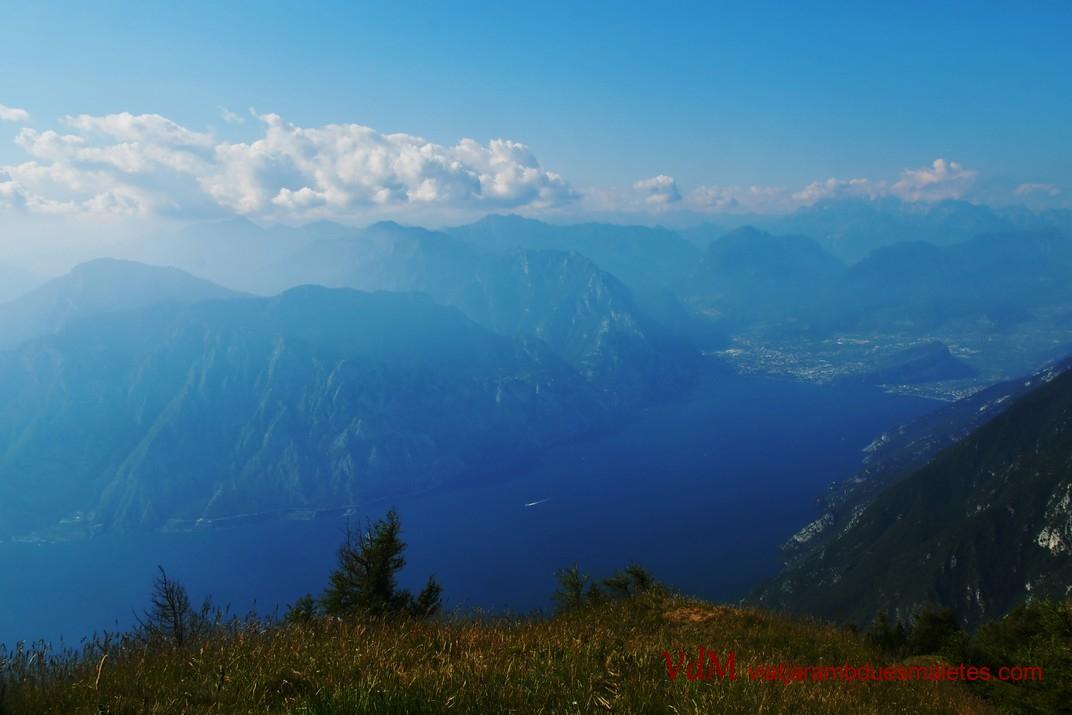 Mirador del Trentino des del Mont Baldo de Malcesine de Garda