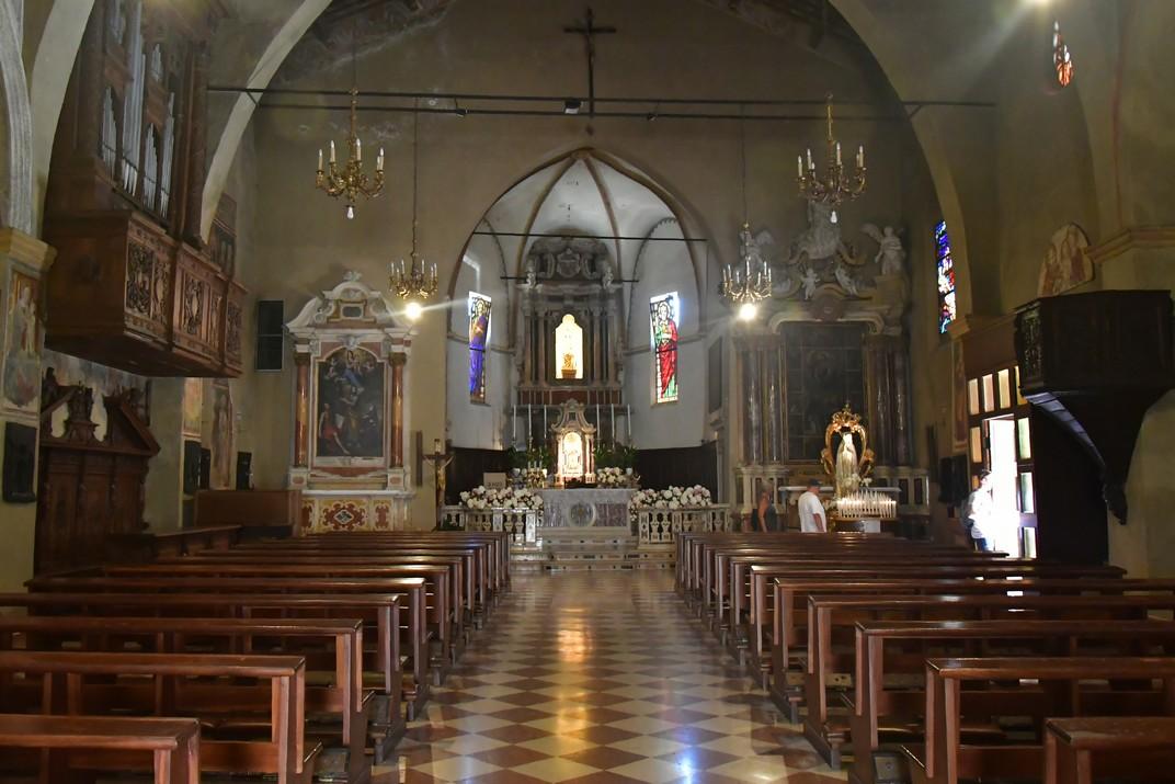 Nau de l'església de Santa Maria Major de Sirmione de Garda