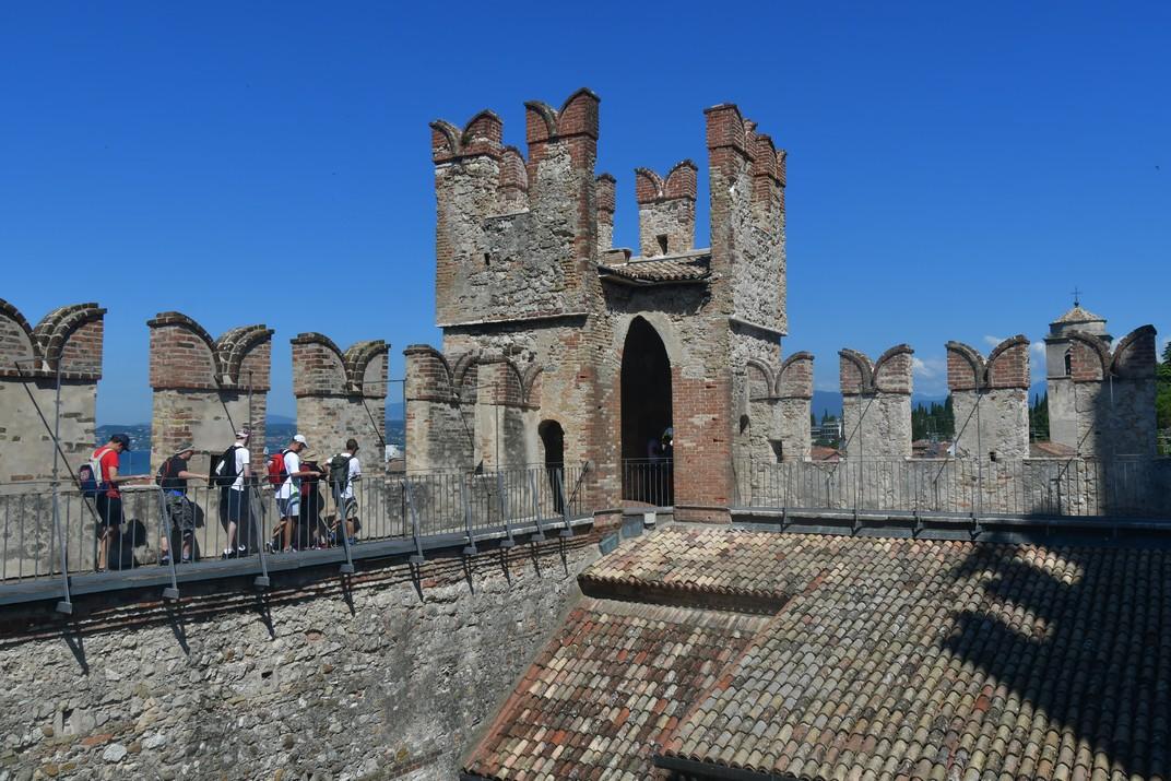 Pati de la Rocca Scaligera de Sirmione de Garda