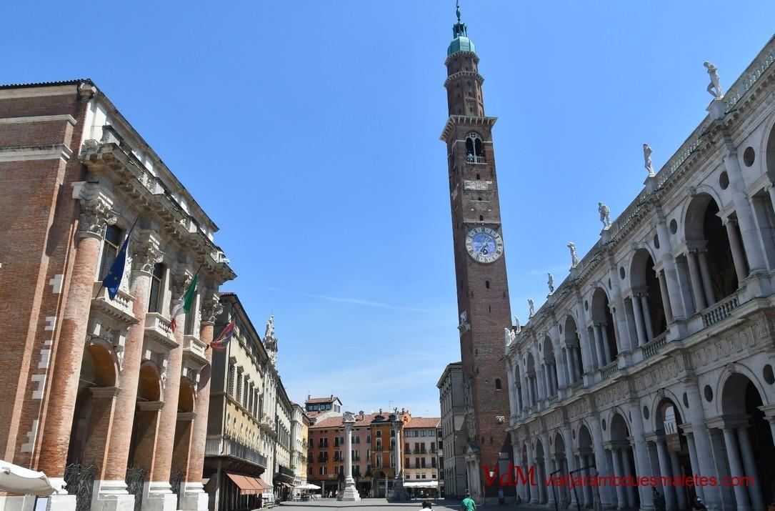 Plaça dels Signori i Torre Bissara de Vicenza