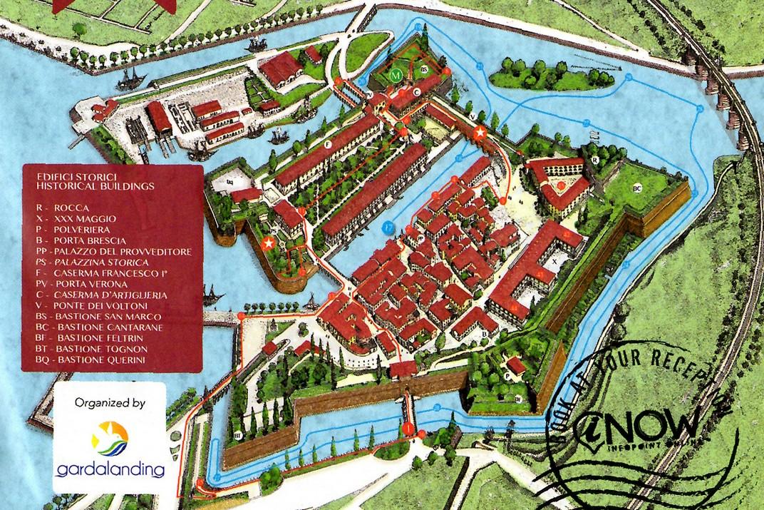 Plànol de la fortalesa de Peschiera del Garda