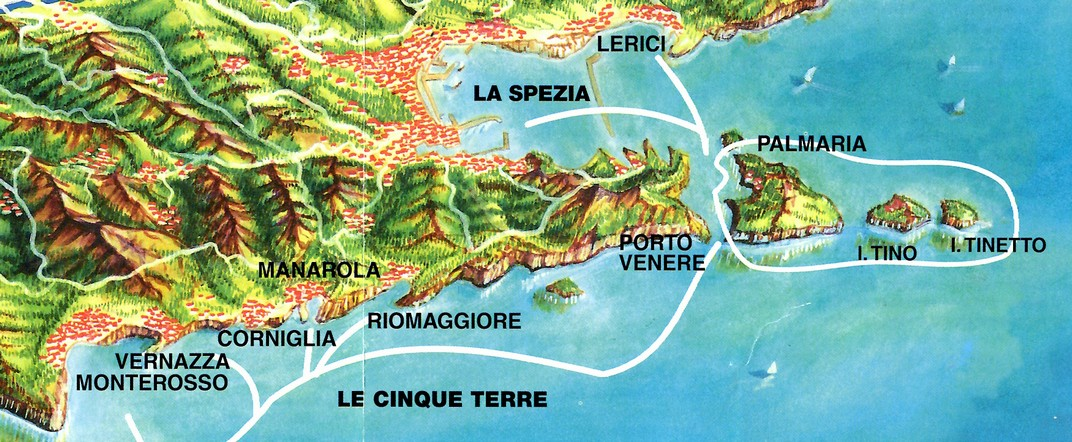 Plànol de Les Cinc Terres - Riomaggiore