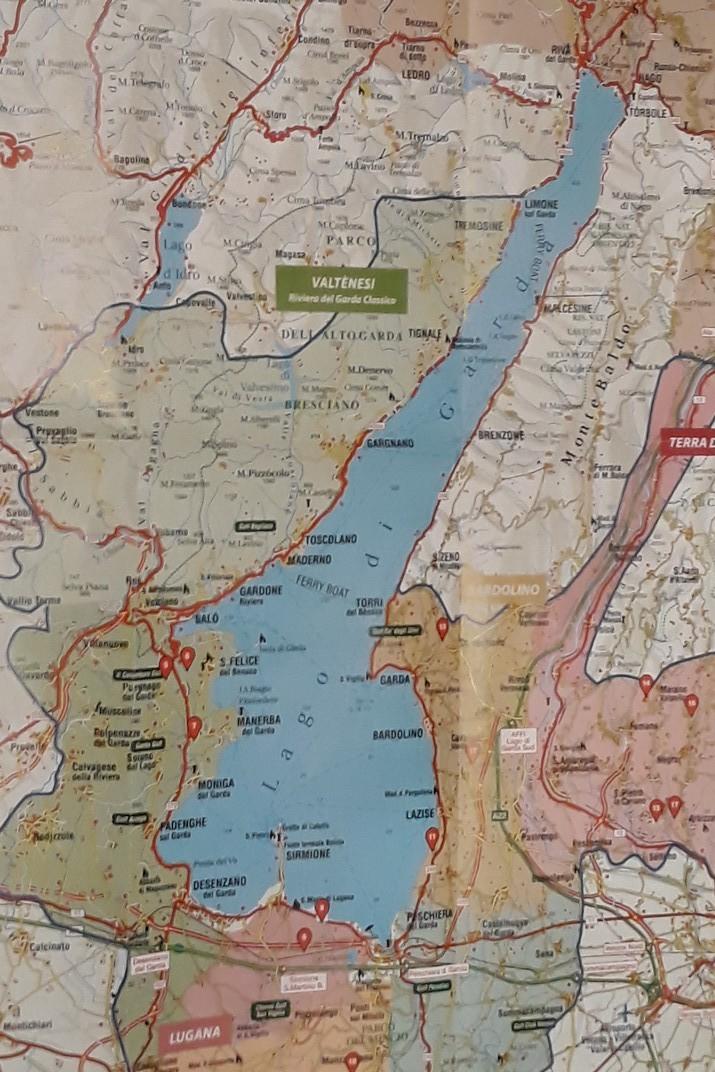 Plànol del llac de Garda